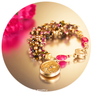 Andalusite locket bracelet