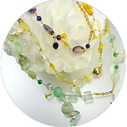 Long gemstone chain